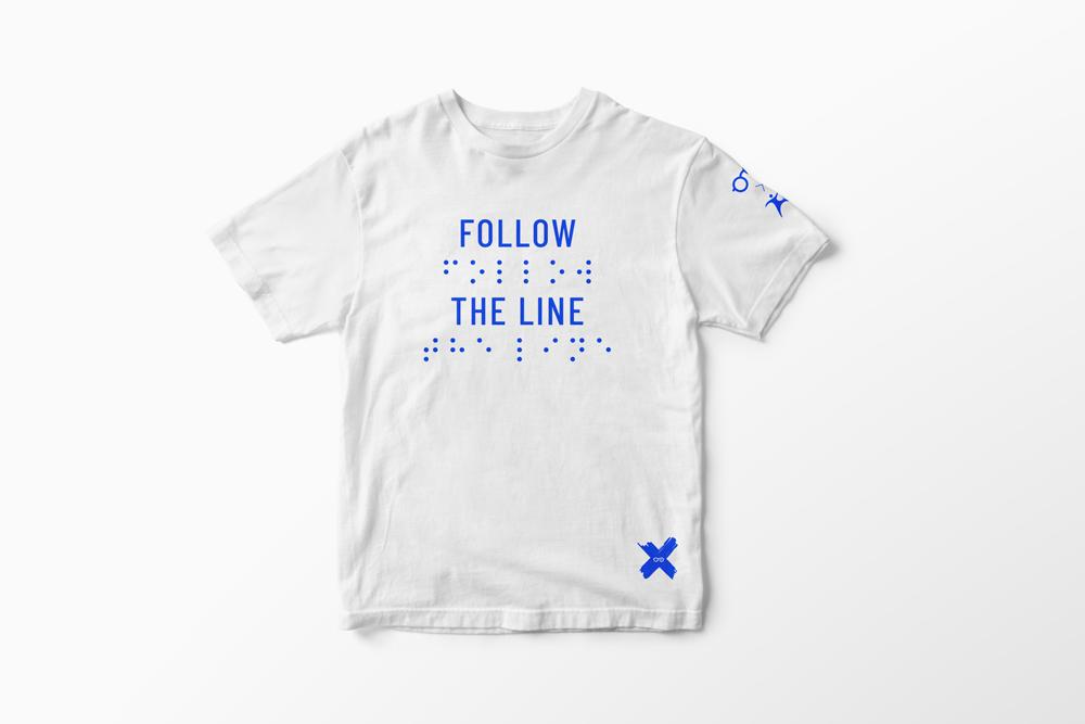 T-Shirt Bianca Follow the Line