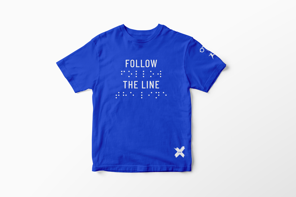 T-Shirt Blu Follow the Line