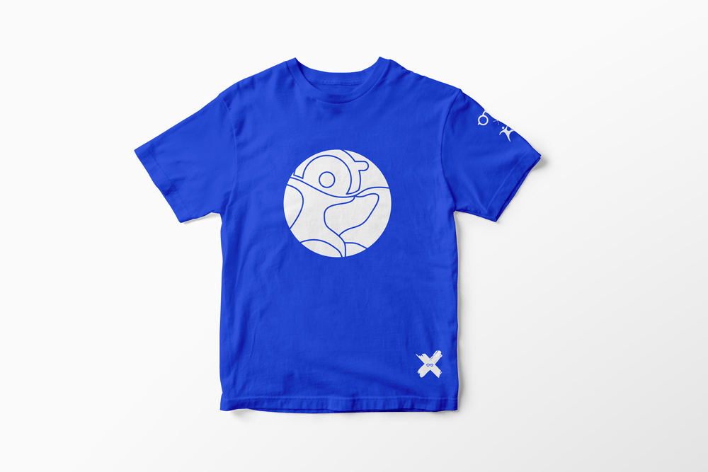 T-Shirt Blu logo